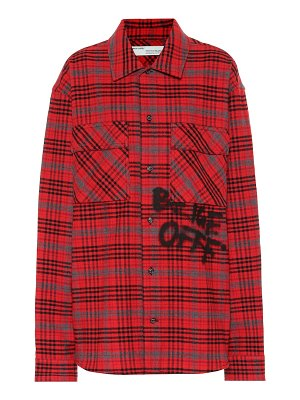 OFF-WHITE check cotton-blend shirt