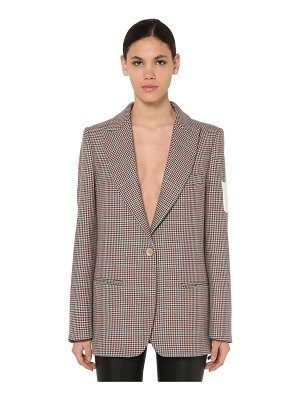 OFF-WHITE Checked virgin wool jacket