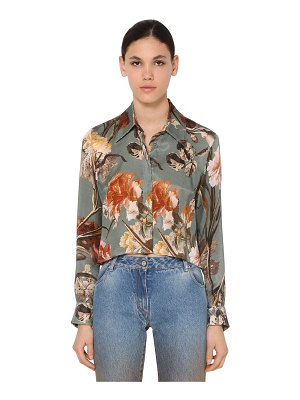 OFF-WHITE Cropped cupro satin shirt