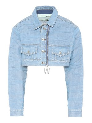 OFF-WHITE cropped denim jacket