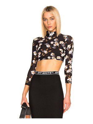OFF-WHITE Cropped Floral Top