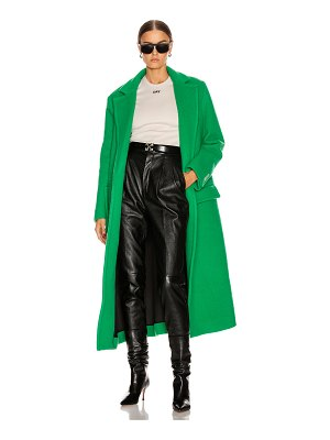 OFF-WHITE curly two layer belt coat