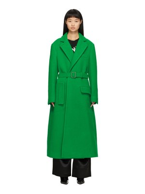 OFF-WHITE curly two-layer belt coat