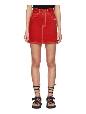 OFF-WHITE denim miniskirt