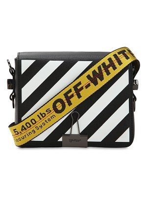 OFF-WHITE Diag printed leather shoulder bag