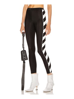 OFF-WHITE diagonal athletic legging