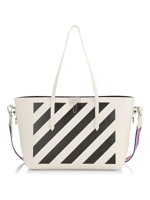 OFF-WHITE diagonal stripe leather shopper
