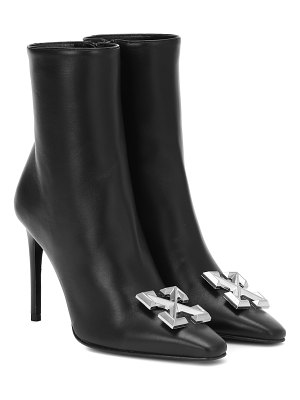 OFF-WHITE embellished leather ankle boots