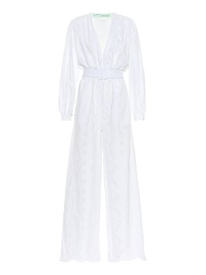 OFF-WHITE Embroidered cotton jumpsuit