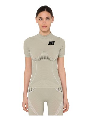 OFF-WHITE Fitted stretch nylon sport t-shirt