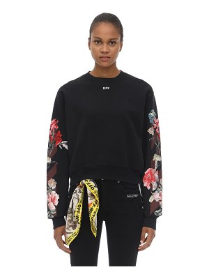 OFF-WHITE Floral print cotton sweatshirt