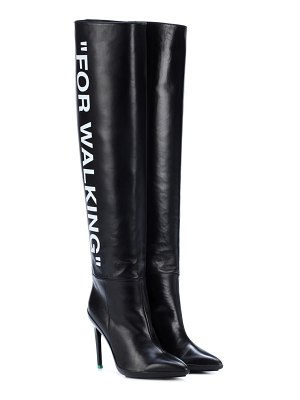 OFF-WHITE for walking leather boots