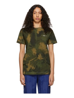 OFF-WHITE green  camouflage t-shirt