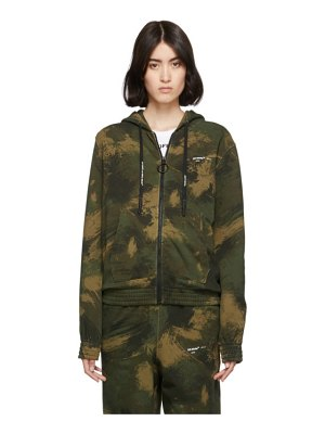 OFF-WHITE green  camouflage zip hoodie