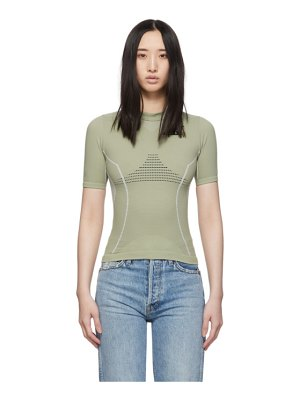 OFF-WHITE green athletic t-shirt