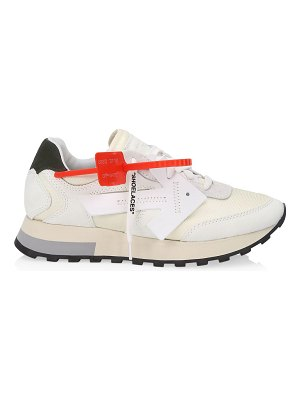 OFF-WHITE hg runner mixed-media leather sneakers