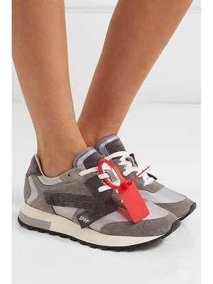 OFF-WHITE hg runner suede and shell sneakers