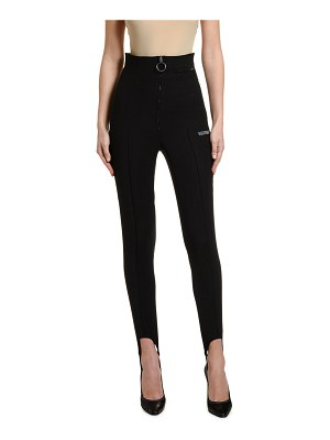 OFF-WHITE High-Rise Fitted Stirrup Pants