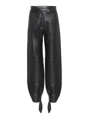 OFF-WHITE high-rise leather pants