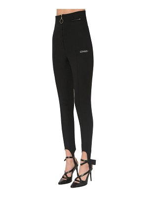 OFF-WHITE High waist fitted crepe  pants