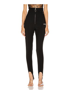 OFF-WHITE high waisted fitted pant