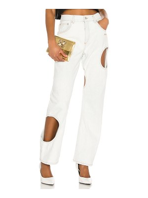 OFF-WHITE hole baggy wide leg. - size 28 (also
