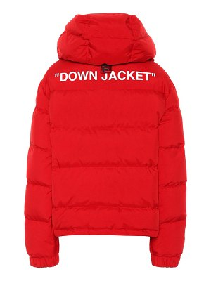 OFF-WHITE hooded down puffer jacket