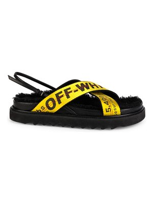 OFF-WHITE industrial belt shearling-lined sandals