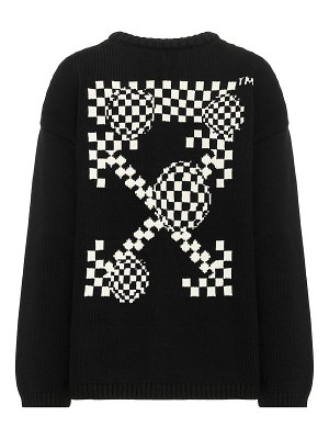 OFF-WHITE intarsia cotton-blend sweater