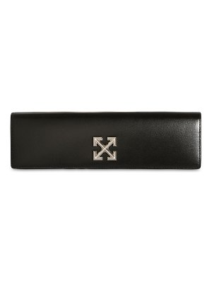OFF-WHITE Jitney 2.2 leather clutch