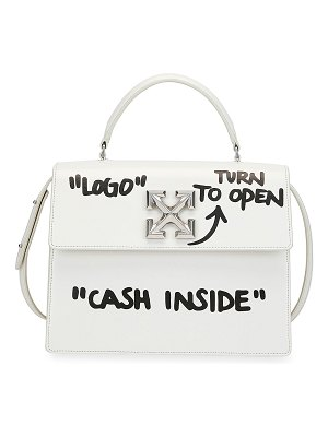 "OFF-WHITE Jitney 2.8 ""Cash Inside"" Top-Handle Bag"