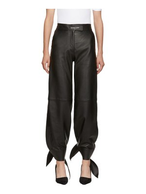 OFF-WHITE leather bow track pants