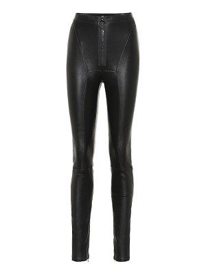 OFF-WHITE leather leggings