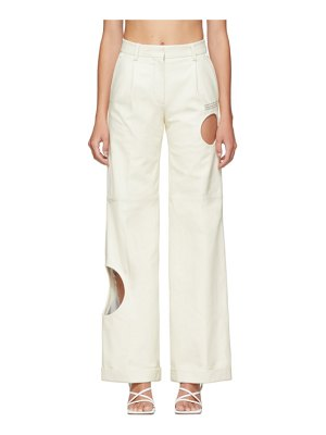 OFF-WHITE leather meteor formal pants