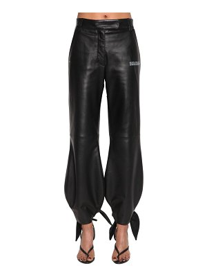 OFF-WHITE Leather pants