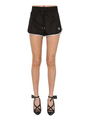 OFF-WHITE Logo nylon sport shorts