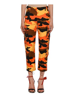 OFF-WHITE Mid Rise Camo Cargo Pants
