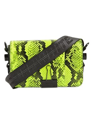 OFF WHITE Mini snake print leather bag