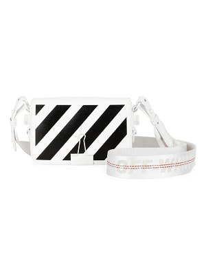 OFF-WHITE Mini Striped Flap Crossbody Bag with Binder Clip