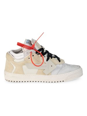 OFF-WHITE mixed media low-top sneakers