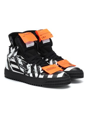 OFF-WHITE off-court leather sneakers