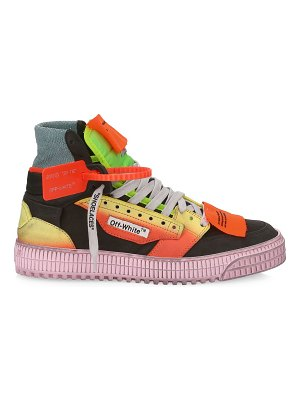 OFF-WHITE off-court mixed-media sneakers