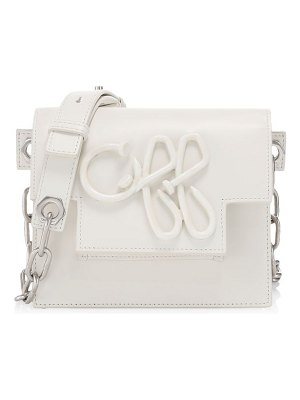 OFF-WHITE off leather crossbody bag