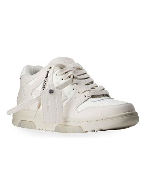 OFF-WHITE Out Of Office Bicolor Leather Sneakers