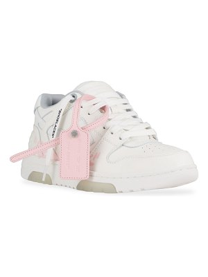 OFF-WHITE Out Of Office For Walking Script Leather Sneakers