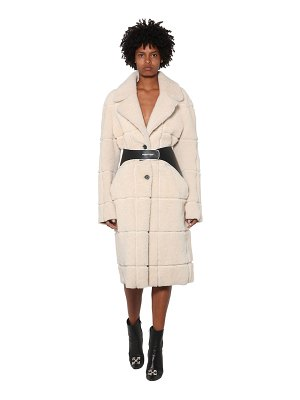 OFF-WHITE Oversized shearling coat