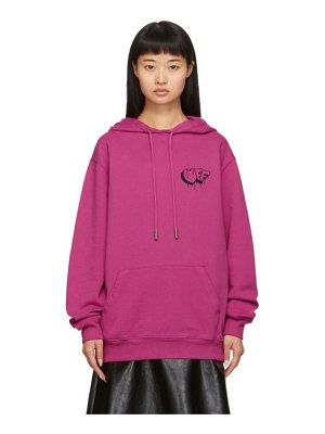 OFF-WHITE pink markers hoodie