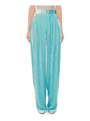 OFF-WHITE Pleated Crushed Velvet Trousers