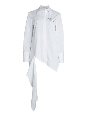 OFF-WHITE popeline spiral draped shirt