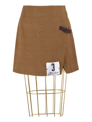 OFF-WHITE Prince of Wales mini skirt